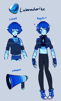 Gemsona Ref- Labradorite by owln on @DeviantArt