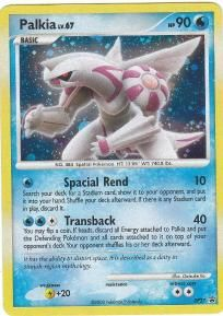 HP90;  No.484 Spatial Pokemon;  Spacial Rend 10;  Transback 40;  Mint and Ready to Ship in soft sleeve and top loader.  FREE Shipping!