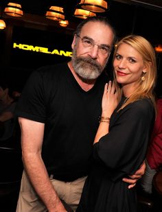 Claire Danes linked up with Mandy Patinkin at a screening of Homeland's upcoming fourth season.