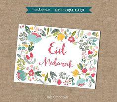 Carte Eid Mubarak, Eid Mubarak Card, Mubarak Ramadan, Ied Mubarak, Eid Cards, Greeting Cards, Fest Des Fastenbrechens, Eid Hampers, Islamic Gifts