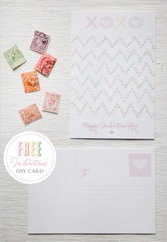 Free Download from Wedding Chicks for valentine postcard!