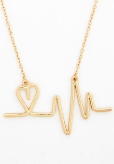 And the Beat Goes Aw Necklace. Stylistas are sure to swoon at the sight of this adorable gold necklace! #gold #modcloth