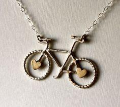 I Heart Bikes Necklace
