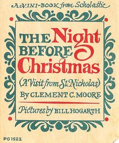 The Night Before Christmas Scholastic booklet from 1973