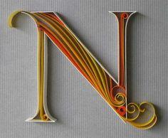 filigraan - Quilling - letter N