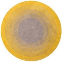 MODL-53001 - modloft - Yellow Fading Sun Rug 7'-6 dia