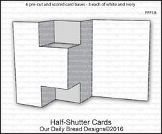 Adapted Trifold Shutter Card + template and videoA long while back, I designed a new Trifold Shutter Card template – with two things in mind. Tri Fold Cards, Fancy Fold Cards, Folded Cards, Trifold Shutter Cards, Pop Up Cards, 3d Cards, Cards Diy, Tarjetas Pop Up, Card Tutorials