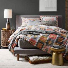Mod Upholstered Platform Bed - Feather Gray