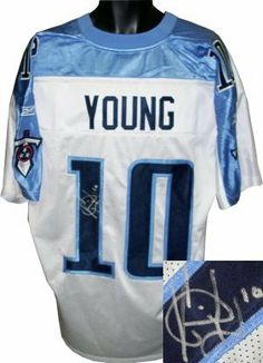 Vince Young Autographed Hand Signed Tennessee Titans Reebok Authentic  Onfield White Jersey by Hall of Fame Memorabilia.  211.95. e761fe2bf