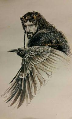 Thorin fanart By Minty Oakenshield Hobbit Art, O Hobbit, Tauriel, Kili, Misty Eyes, Elfa, Thorin Oakenshield, Jrr Tolkien, Gandalf