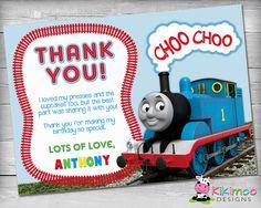 Thomas the Train Thank you tag Thomas train Birthdays and