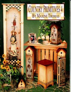 Country Primitives Number 4, done by maxine thomas, 66 pages