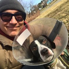 To make his recovery a little easier, I told my pal Julius that this is what all the fashionable dogs in Paris are wearing this season... (I don't think he believed me!)! +++++ #DoggyCouture #dog #fashion #fashionista #doglover #compassion #style #CountryBoy #CountryLiving #humanesociety #adopt #rescuedog