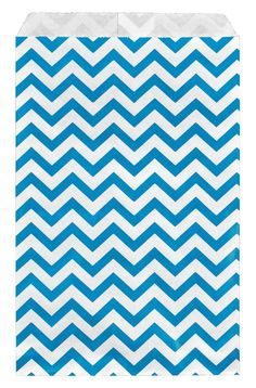 200 pcs Blue Chevron Paper Gift Bags Shopping Sales Tote Bags 6' x 9' Zig Zag Design-Caddy Bay Collection >> You will love this! More info here : Wrapping Ideas