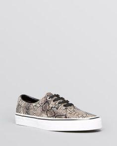 Vans Flat Lace Up Sneakers - Authentic | Bloomingdales's