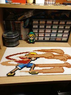Luffy one piece!!! Hama bead perler pixel art