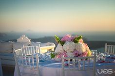 This is simply magic.. Santorini my real wedding, soft pink and a touch of vintage