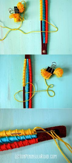 Color-Wrapped Mystery Braid Bracelet {Hello Summer} I Heart Nap Time   I Heart Nap Time - Easy recipes, DIY crafts, Homemaking
