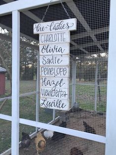 Chicken coop sign chicken sign coop name sign wood signs sayings wood signs farm signs chicken name sign backyard chickens sign