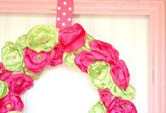 spring wreath tutorial