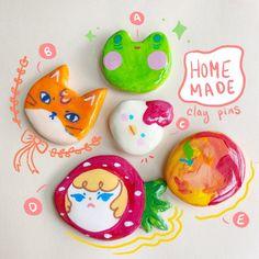 Cute Polymer Clay, Cute Clay, Diy Clay, Handmade Polymer Clay, Fun Crafts, Diy And Crafts, Arts And Crafts, Biscuit, Ceramic Clay