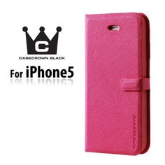 CaseCrown Black Wallet Case Pink for Apple iPhone 5  5s with Screen Protector Included *** More info could be found at the image url.