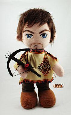 Daryl Dixon / The Walking Dead plush doll w/poncho