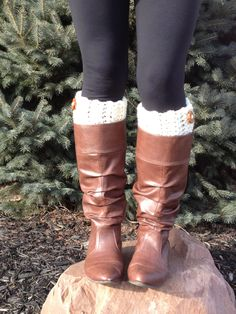 Boot Cuffs, Boot Toppers, Boot Socks, Leg Warmers, Ankle Warmers, Textured and Stretchy. $20.00, via Etsy.