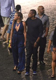 Beyoncé and Jayz at 'Quattro Passi' restaurant in Nerano, Italy