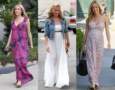 pregnancy and maxi dresses! (not plus size i know, but adorbs)