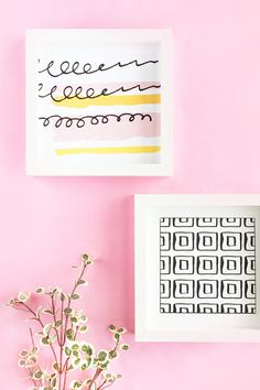 DIY Pastel Abstract Wall Art on Maritza Lisa - Create your own pastel abstract art with this easy DIY & Crafts tutorial - click through for the how-to!