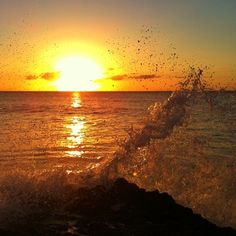 Sunsets with a splash! #Anguilla