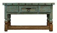"""Aspen Antique Turquoise 64"""" Console Table >> I want this!"""