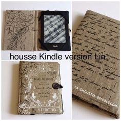 Housse pour Kindle, le tuto... - La chouette bricole Diy Couture, Couture Sewing, Ebook Cover, Crafts, Scrap, Denim, Crochet, Inspiration, Tejidos