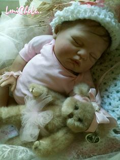 From the Sugar Kit  Reborn Baby Doll 20 inch Baby Girl Julia Hand Rooted Hair and Eyelashes