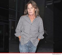 Bruce Jenner with family and friends on a way to a concert