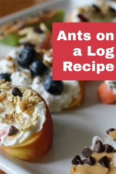 """Remember the classic snack """"Ants on a Log""""? Now it's better than ever with a whole new twist! Waaaaay beyond celery and peanut butter! So quick, so healthy (and so much fun … get creative)!"""
