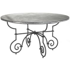 Furniture :: Dining Tables :: Vintage Scroll Metal Dining Table