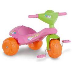 Triciclo Bandeirante Jet Ban Gatinha, uma diversão para sua filha.    No tamanho da imaginação e diversão da criançada.