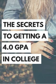 We shared our secrets to getting a 4.0 GPA in college!
