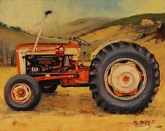 Lynn's Ford by Rob Akey Oil ~ 8 x 10. www.RobAkey.com.  A recent commission of a tractor located west of Anaconda, Montana.