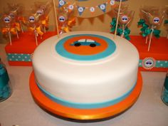 """Photo 1 of 9: Cars / Birthday """"Car Party Orange and Turquoise"""" 