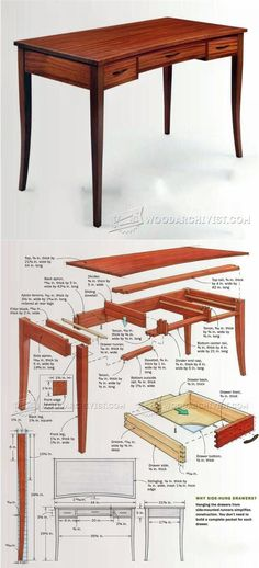 Build Writing Desk - Furniture Plans and Projects | WoodArchivist.com