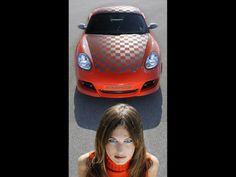 Car Girl and Rinspeed Imola Porsche Cayman Wallpaper