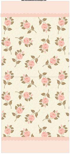 Fazendo a Minha Festa!: Floral Rosa - Kit Completo com molduras para convites, rótulos para guloseimas, lembrancinhas e imagens!