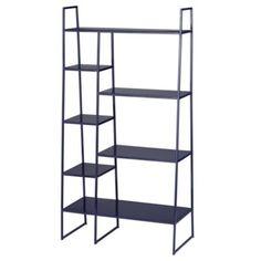 High Rise Bookshelf (Navy) - from the land of nod Modern Bookshelf, Kids Bookcase, Bookshelves, Metal Shelves, Shelving, Providence Homes, Boy Toddler Bedroom, Boy Room, Land Of Nod