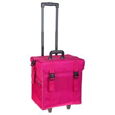 Soft Makeup Artist Rolling Trolley Cosmetic Case with Free Set of Mesh Bags, Summer Orchid - ROLLING MAKEUP CASES - TRAIN CASES