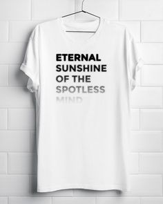 "Tribute Homenaje ""Eternal Sunshine of the Spotless Mind - Michel Gondry"" Camiseta Unisex T-Shirt olvidate de mi Joel Clementine Jim Carrey by BagApart on Etsy https://www.etsy.com/listing/286906939/tribute-homenaje-eternal-sunshine-of-the"