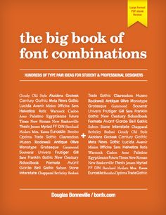 The Big Book of Font Combinations  With so many amazing...