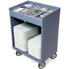 Cambro Tray & Silverware Cart: Dark Brown:Amazon:Home & Kitchen